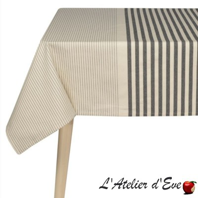 """Larrau"" Basque canvas coated tablecloth Made in France Artiga"