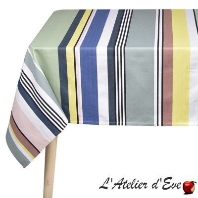 """Iholdy"" Basque canvas coated tablecloth Made in France Artiga"