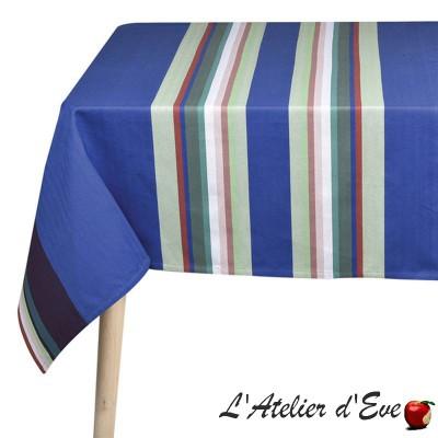 """Iholdy"" Basque canvas coated tablecloth Made in France Artiga"