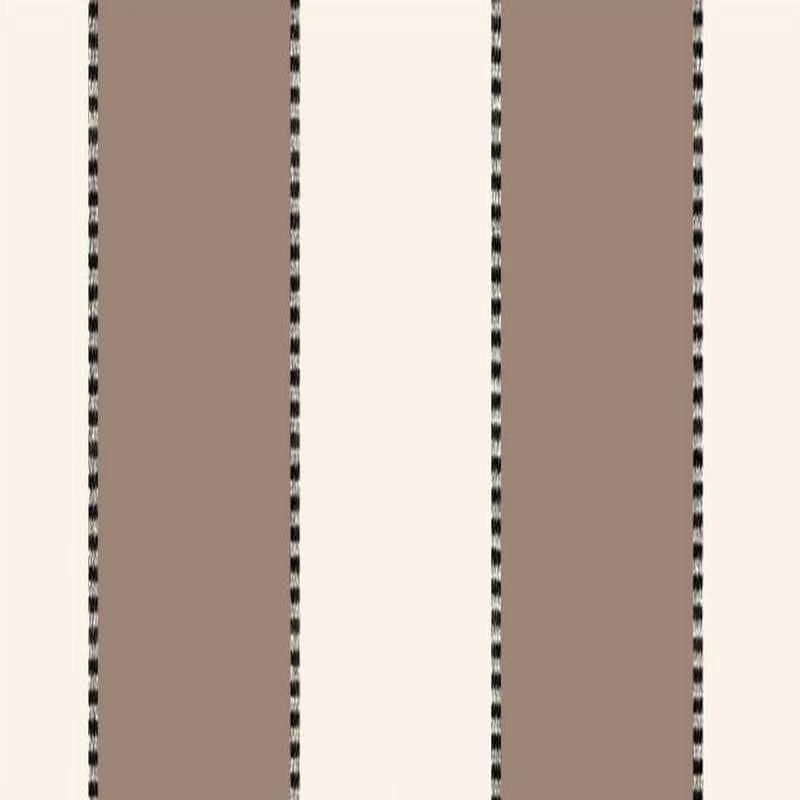 Armand - Tissu ameublement bachette coton grande largeur rayure taupe/écru