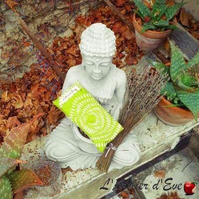 "Coussin relaxant pour les yeux ""Ushuaïa"" vert Made in France L'Atelier d'Eve"