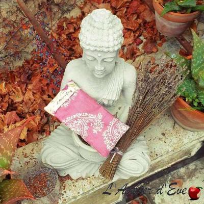 """Coussin relaxant pour les yeux """"Venise"""" vieux rose Made in France L'Atelier d'Eve"""
