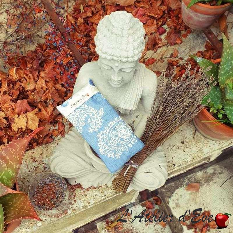 """Coussin relaxant pour les yeux """"Venise"""" bleu Made in France L'Atelier d'Eve"""