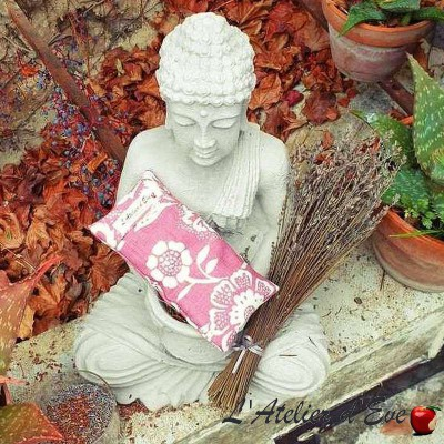 """Old pink """"Lisbon"""" relaxing eye cushion Made in France L'Atelier d'Eve"""