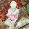 Coussin relaxant pour les yeux Lisbonne vieux rose Made in France L'Atelier d'Eve
