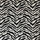 """Africa"" Tissu noir/blanc jacquard velours Casal"