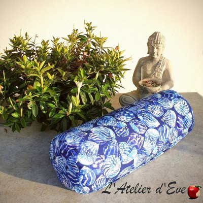 """Bolster"" ocean Yoga cushion Made in France L'Atelier d'Eve"