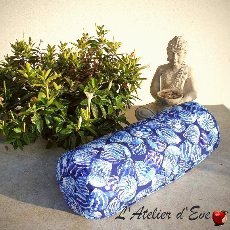 """Bolster"" océan Coussin de yoga Made in France L'Atelier d'Eve"