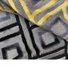 Nakaya Tissu jacquard velours gris Thevenon