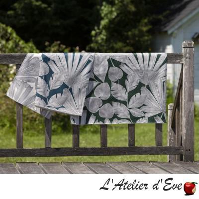 """Panama"" Large width floral cotton fabric Thevenon"