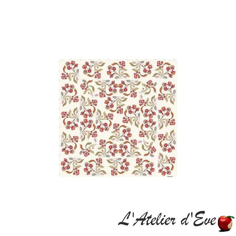 """""""Bastide rouge"""" 6 serviettes de table provençales 50x50cm tissu coton Valdrôme"""