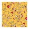 """""""Fleurs des champs jaune"""" 6 serviettes de table provençales 50x50cm tissu coton Valdrôme"""