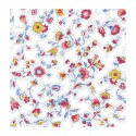 """""""Fleurs des champs multicolores"""" 6 serviettes de table provençales 50x50cm tissu coton Valdrôme"""