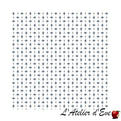 """""""Croquet blanc-bleu"""" 6 serviettes de table provençales 50x50cm tissu coton Valdrôme"""
