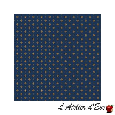 """""""Croquet bleu"""" 6 serviettes de table provençales 50x50cm tissu coton Valdrôme"""