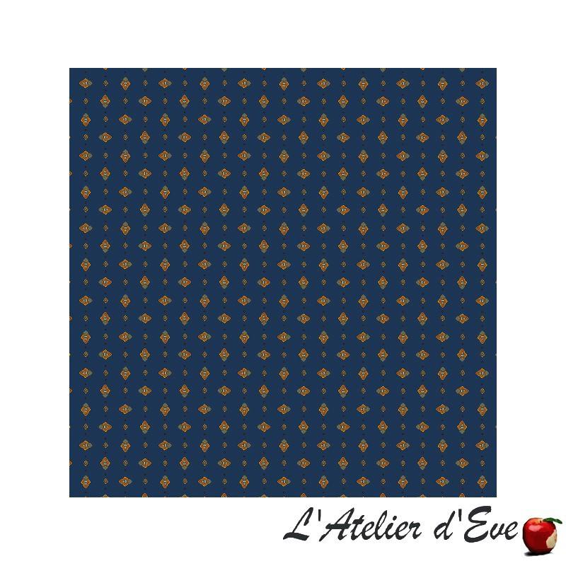 """Yellow croquet"" 6 Provencal napkins 50x50cm cotton fabric Valdrôme"