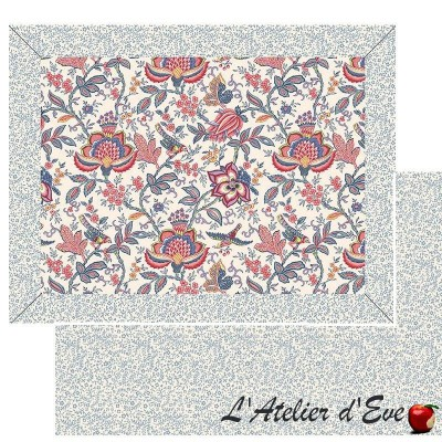 """""""Colombe rouge"""" Provencal placemat Valdrôme Made in France"""