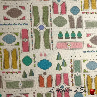 """""""Fouquet"""" Coated tablecloth Made in France Thevenon"""