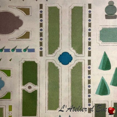 """""""Le Notre"""" Coated tablecloth Made in France Thevenon"""