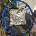 Coussin Palm springs noir - gris unis Made in france