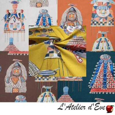 """Cotonou"" Cotton curtain Made in France Thevenon"