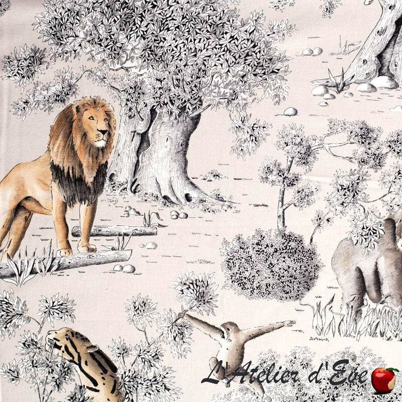 """""""Wild"""" Rouleau toile de coton fauve Thevenon"""