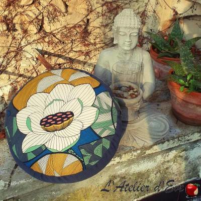 """""""Zafu"""" Lotus gris Coussin de méditation Made in France L'Atelier d'Eve"""