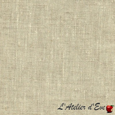 """Natural """"Linum"""" Coupon 250cmx140cm upholstery fabric Thevenon"""