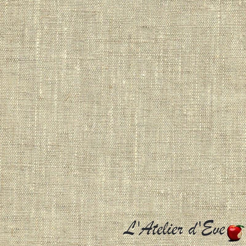 """""""Linum"""" naturel Coupon 250cmx140cm tissu ameublement Thevenon"""