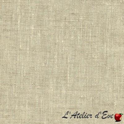 """""""Linum"""" naturel Coupon 115cmx140cm tissu ameublement Thevenon"""