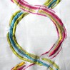 Arty Toile ameublement brode multicolore fond écru de Thevenon