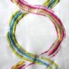 Arty coupon toile ameublement brode multicolore fond écru de Thevenon