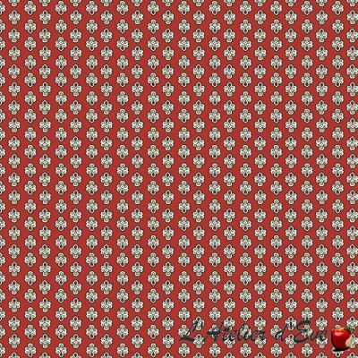 """""""Red Maillane"""" Cotton fabric Valdrôme French manufacturing"""