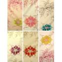 Justine (6 coloris) Rouleau tissu ameublement toile de jouy grande largeur motif médaillon Thevenon La pièce ou demi-pièce