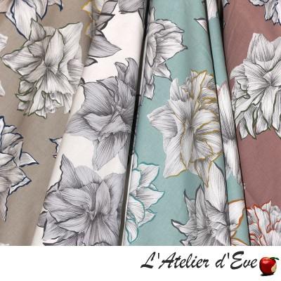 """Paradisiac"" Discount 30% Cotton canvas roll large width Thevenon"