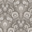 """""""Kalian taupe"""" Cotton fabric Valdrôme French manufacturing"""