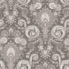 Kalian taupe Tissu coton Valdrôme Fabrication française