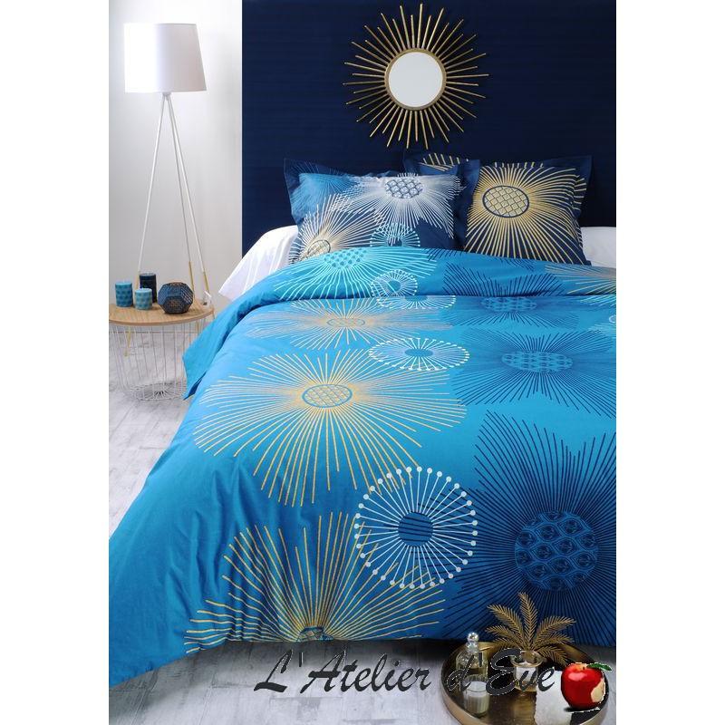 """Floralia"" Duvet cover + 2 Reversible pillowcases 65x65cm"