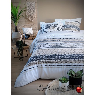 """Bali"" Duvet cover + 2 Reversible pillowcases 65x65cm"