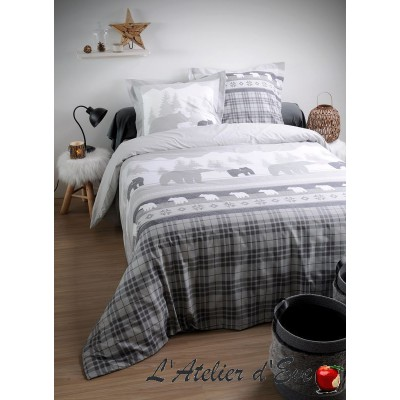 """Canada gray"" Children's duvet cover + 1 pillowcases 65x65cm reversible"