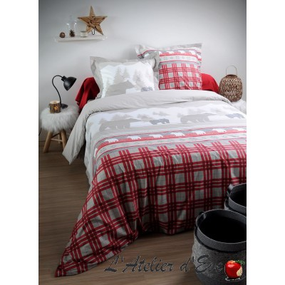 """Canada rouge"" Children's duvet cover + 1 reversible pillowcase 65x65cm"