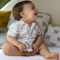 """""""Jurassic"""" blanc Percale coton enfant oekotex Made in France"""
