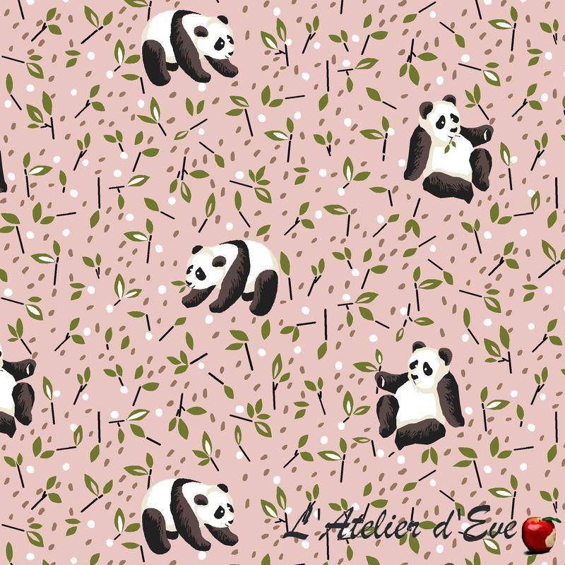 """Tao"" rose Tissu coton enfant oekotex Made in France"