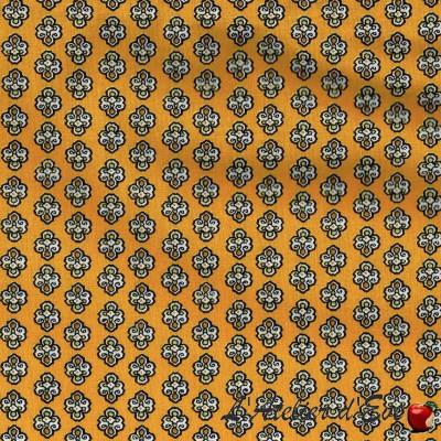"""Maillane soleil"" Cotton fabric Valdrôme French manufacturing"