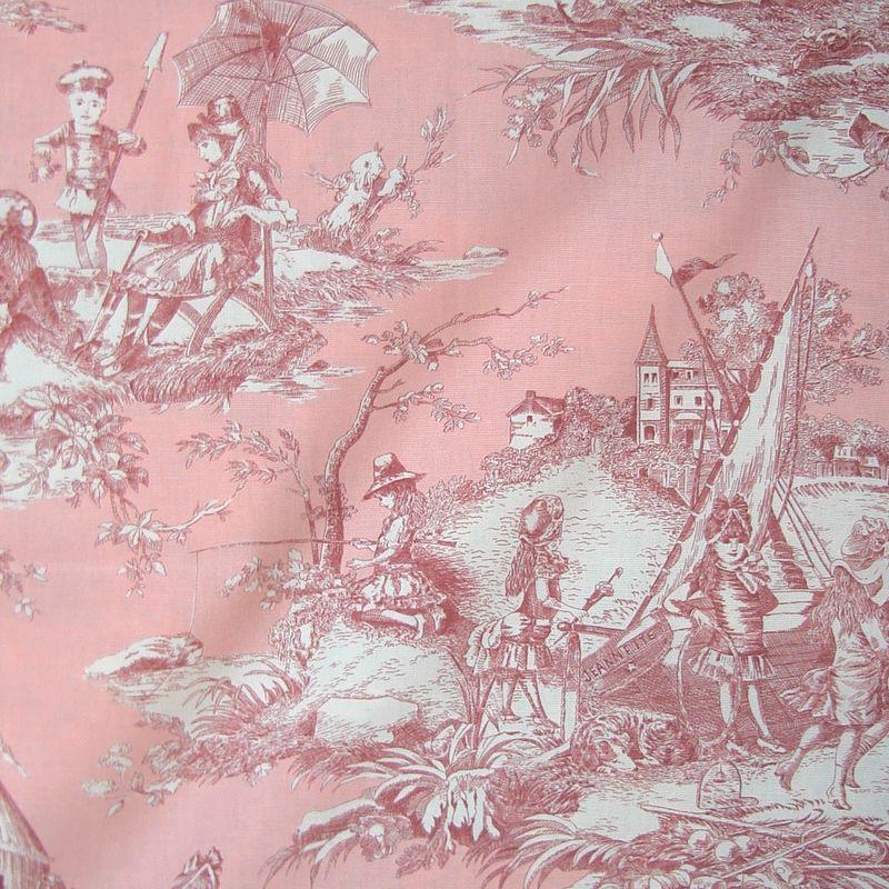 Histoire d'eau (15 coloris) Tissu ameublement toile de jouy grande largeur Thevenon