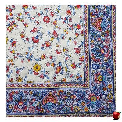 "Yellow ""Fleurs des champs"" Provencal cotton tablecloths Valdrôme Made in France"