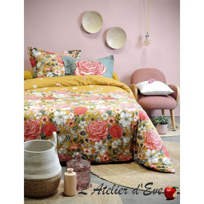 """Deneuve"" Duvet cover + 2 Reversible pillowcases 65x65cm"
