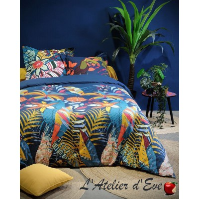 """Siam"" multico Duvet cover + 2 Reversible pillowcases 65x65cm"