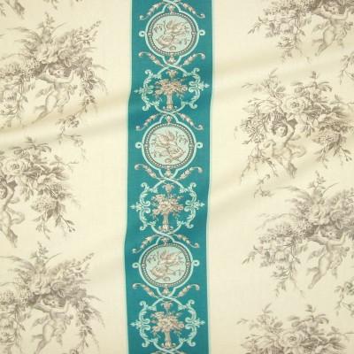 Justin (6 coloris) Tissu ameublement toile de jouy rayée grande largeur pour siege Thevenon