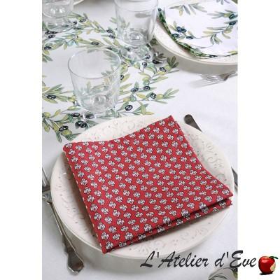 """""""Maillane soleil"""" 6 Provencal napkins 50x50cm cotton fabric Valdrôme"""